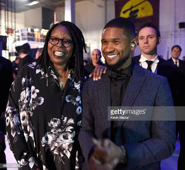 Whoopi Goldberg and Usher attend the 37th Annual Kennedy Center Honors at The John F Kennedy Center for Performing Arts on December 7 2014 in...