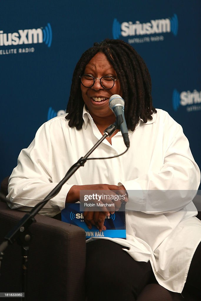 <a gi-track='captionPersonalityLinkClicked' href=/galleries/search?phrase=Whoopi+Goldberg&family=editorial&specificpeople=202463 ng-click='$event.stopPropagation()'>Whoopi Goldberg</a> at SiriusXM's 'Town Hall' series at SiriusXM Studios on September 25, 2013 in New York City.