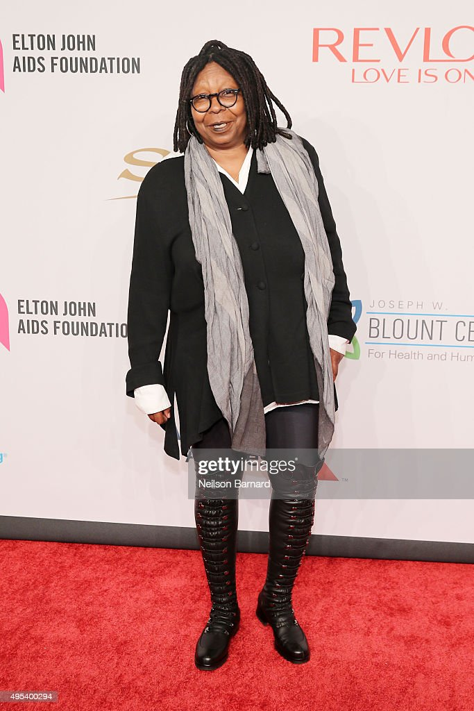 Whoopi Goldberg attends Elton John AIDS Foundation's 14th Annual An Enduring Vision Benefit at Cipriani Wall Street on November 2 2015 in New York...