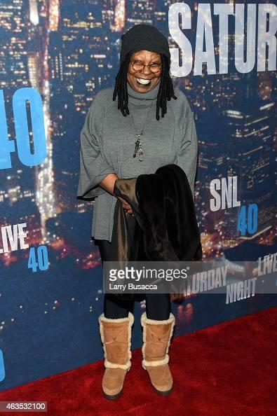 Whoopi Goldberg attends SNL 40th Anniversary Celebration at Rockefeller Plaza on February 15 2015 in New York City
