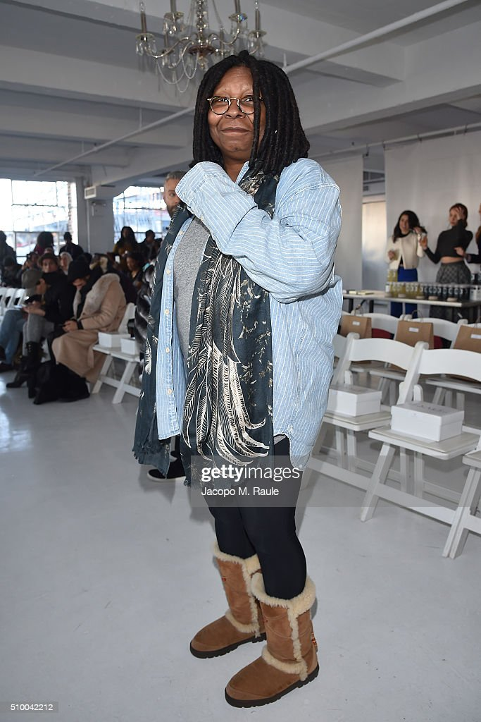 <a gi-track='captionPersonalityLinkClicked' href=/galleries/search?phrase=Whoopi+Goldberg&family=editorial&specificpeople=202463 ng-click='$event.stopPropagation()'>Whoopi Goldberg</a> attends Stevie Boi fashion show during Fall 2016 New York Fashion Week at Studio 450 on February 13, 2016 in New York City.