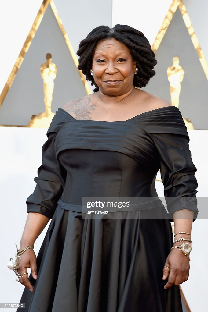 Whoopi Goldberg attends the 88th Annual Academy Awards at Hollywood Highland Center on February 28 2016 in Hollywood California