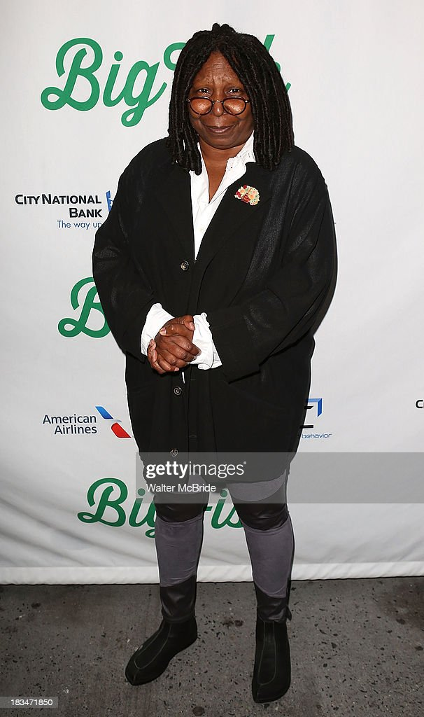 <a gi-track='captionPersonalityLinkClicked' href=/galleries/search?phrase=Whoopi+Goldberg&family=editorial&specificpeople=202463 ng-click='$event.stopPropagation()'>Whoopi Goldberg</a> attends the 'Big Fish' Broadway Opening Night at Neil Simon Theatre on October 6, 2013 in New York City.