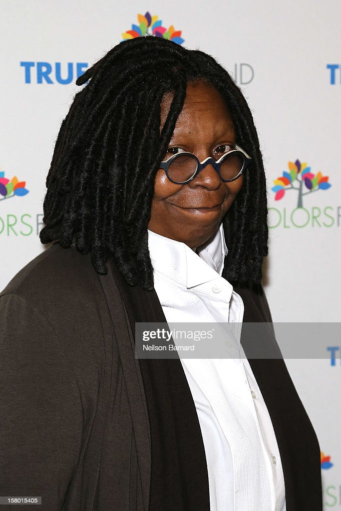 <a gi-track='captionPersonalityLinkClicked' href=/galleries/search?phrase=Whoopi+Goldberg&family=editorial&specificpeople=202463 ng-click='$event.stopPropagation()'>Whoopi Goldberg</a> attends the Cyndi Lauper and Friends: Home For The Holiday's Concert at The Beacon Theatre on December 8, 2012 in New York City.