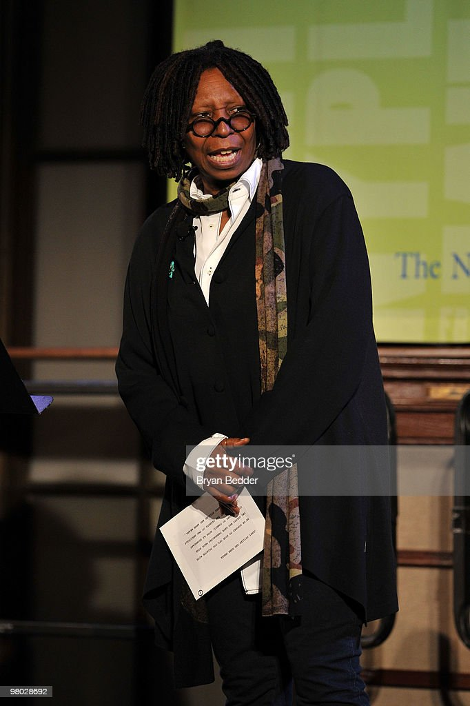 <a gi-track='captionPersonalityLinkClicked' href=/galleries/search?phrase=Whoopi+Goldberg&family=editorial&specificpeople=202463 ng-click='$event.stopPropagation()'>Whoopi Goldberg</a> attends the George Carlin Tribute hosted by <a gi-track='captionPersonalityLinkClicked' href=/galleries/search?phrase=Whoopi+Goldberg&family=editorial&specificpeople=202463 ng-click='$event.stopPropagation()'>Whoopi Goldberg</a> at the New York Public Library - Celeste Bartos Forum on March 24, 2010 in New York City.