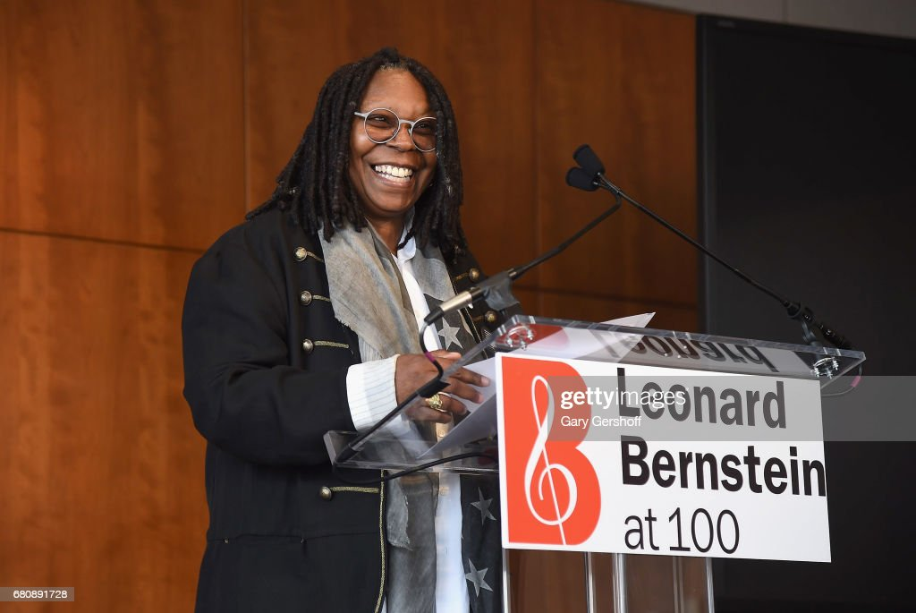 Whoopi Goldberg attends the Leonard Bernstein at 100 press event at Stanley H. Kaplan Penthouse at Lincoln Center on May 9, 2017 in New York City.