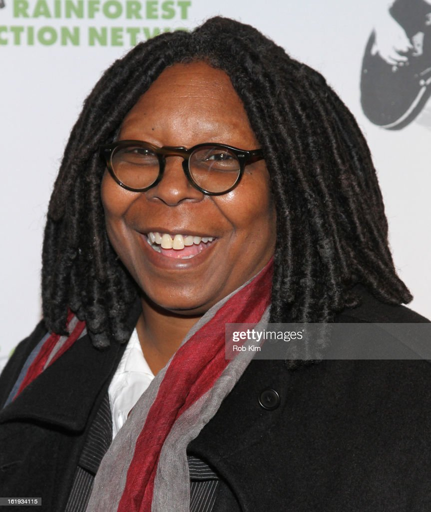 Whoopi Goldberg attends The Rainforest Action Network Benefit at The Cutting Room on February 17, 2013 in New York City.