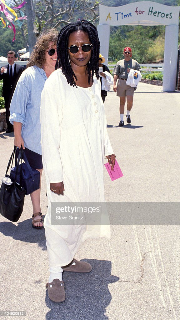 <a gi-track='captionPersonalityLinkClicked' href=/galleries/search?phrase=Whoopi+Goldberg&family=editorial&specificpeople=202463 ng-click='$event.stopPropagation()'>Whoopi Goldberg</a> during Pediatric Aids Event A Time For Heroes at Private House in Bel Air, California, United States.
