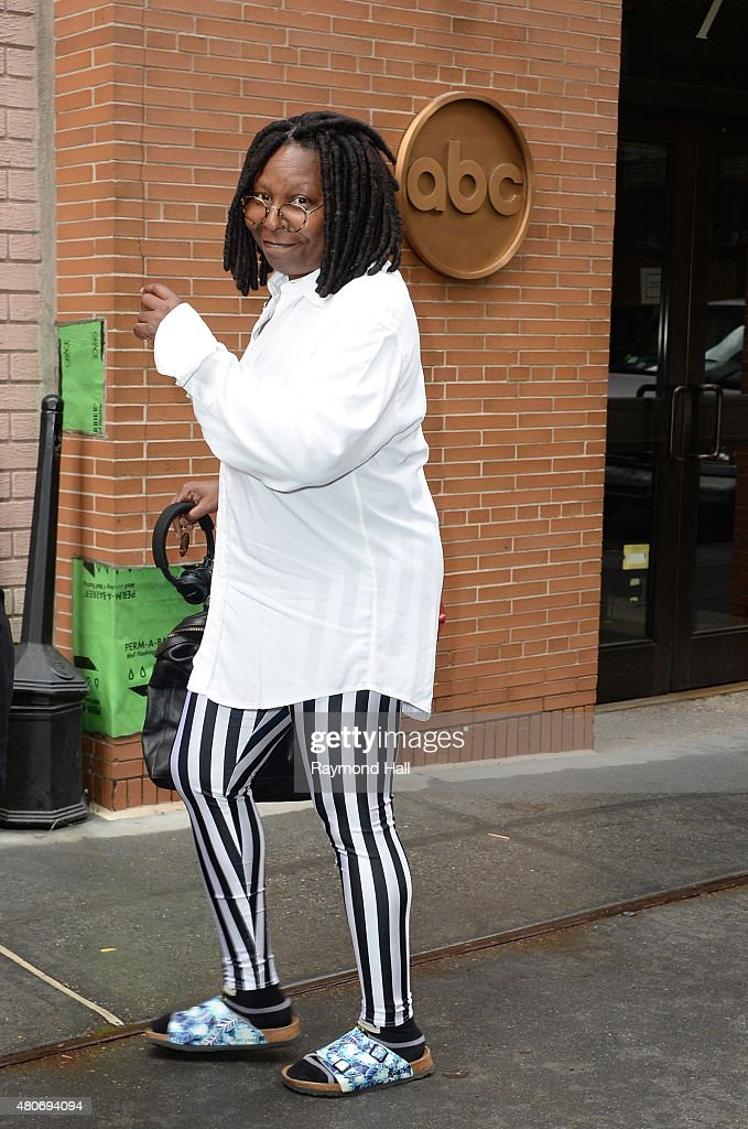 Whoopi Goldberg is seen at the 'The View' on July 14 2015 in New York City