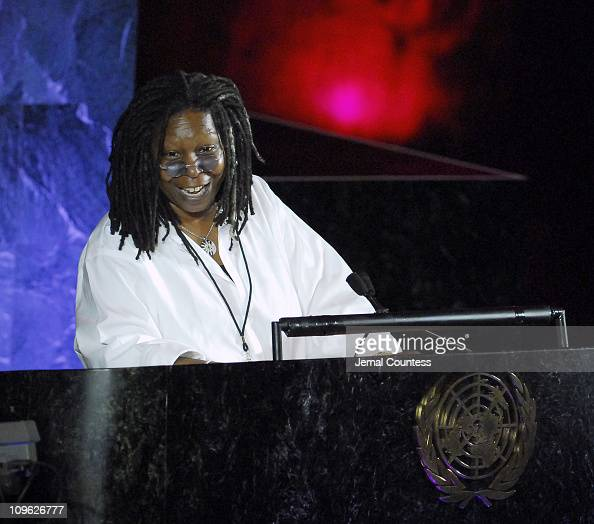 Whoopi Goldberg speaks at the 'Evening of Remembrance and Hope Uniting the World Against AIDS' Gala celebration held on June 1 2006 at the United...
