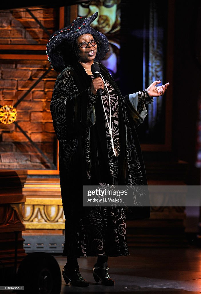 Whoopi Goldberg speaks on stage during the 65th Annual Tony Awards at the Beacon Theatre on June 12, 2011 in New York City.