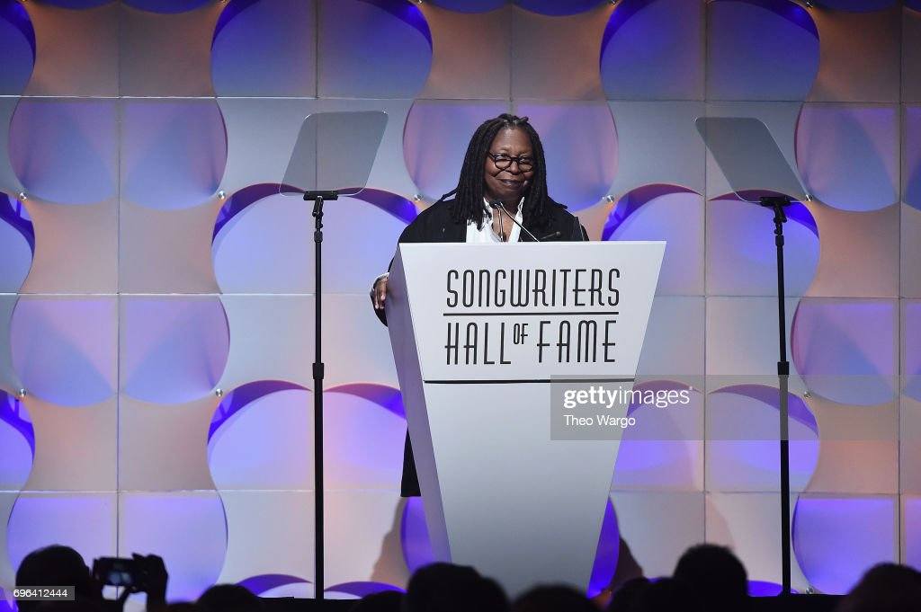 Whoopi Goldberg speaks onstage at the Songwriters Hall Of Fame 48th Annual Induction and Awards at New York Marriott Marquis Hotel on June 15, 2017 in New York City.