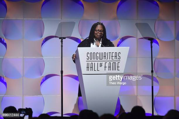 Whoopi Goldberg speaks onstage at the Songwriters Hall Of Fame 48th Annual Induction and Awards at New York Marriott Marquis Hotel on June 15 2017 in...