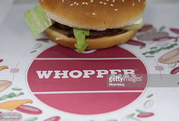 A whopper burger sits in the kitchen at a Burger King restaurant in Basildon UK on Wednesday Sept 8 2010 Burger King Holdings Inc agreed to be...