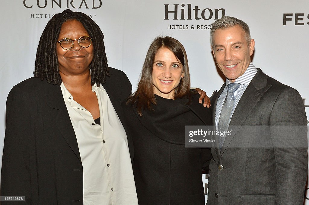 Whoppi Goldberg, director Bess Kargman and Tom Leonardis attend the TFF Awards Night during the 2013 Tribeca Film Festival on April 25, 2013 in New York City.