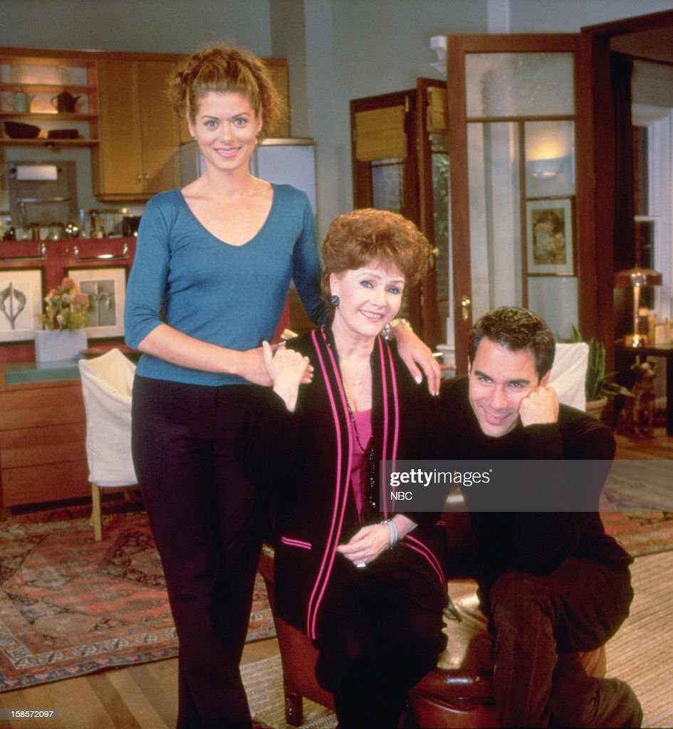 WILL & GRACE -- 'Who's Mom is it Anyway?' Episode 4 -- Pictured: (l-r) <a gi-track='captionPersonalityLinkClicked' href=/galleries/search?phrase=Debra+Messing&family=editorial&specificpeople=202114 ng-click='$event.stopPropagation()'>Debra Messing</a> as Grace Adler, <a gi-track='captionPersonalityLinkClicked' href=/galleries/search?phrase=Debbie+Reynolds&family=editorial&specificpeople=121536 ng-click='$event.stopPropagation()'>Debbie Reynolds</a> as Bobbie Adler and <a gi-track='captionPersonalityLinkClicked' href=/galleries/search?phrase=Eric+McCormack&family=editorial&specificpeople=202857 ng-click='$event.stopPropagation()'>Eric McCormack</a> as Will Truman --