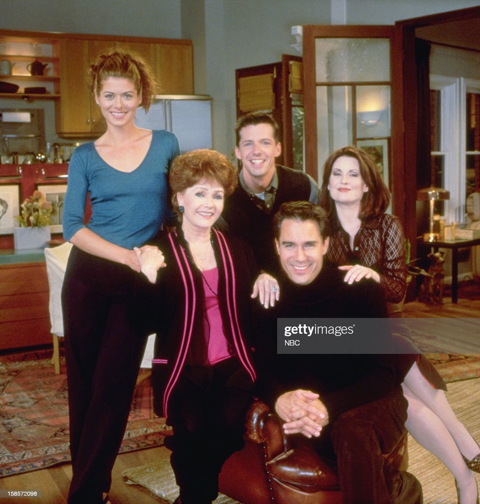 WILL & GRACE -- 'Who's Mom is it Anyway?' Episode 4 -- Pictured: (l-r) <a gi-track='captionPersonalityLinkClicked' href=/galleries/search?phrase=Debra+Messing&family=editorial&specificpeople=202114 ng-click='$event.stopPropagation()'>Debra Messing</a> as Grace Adler, <a gi-track='captionPersonalityLinkClicked' href=/galleries/search?phrase=Debbie+Reynolds&family=editorial&specificpeople=121536 ng-click='$event.stopPropagation()'>Debbie Reynolds</a> as Bobbie Adler, <a gi-track='captionPersonalityLinkClicked' href=/galleries/search?phrase=Sean+Hayes&family=editorial&specificpeople=204240 ng-click='$event.stopPropagation()'>Sean Hayes</a> as Jack McFarland and <a gi-track='captionPersonalityLinkClicked' href=/galleries/search?phrase=Megan+Mullally&family=editorial&specificpeople=201612 ng-click='$event.stopPropagation()'>Megan Mullally</a> as Karen Walker --