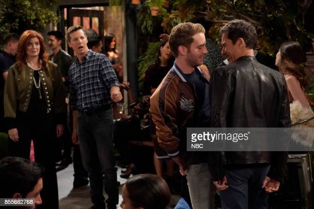 WILL GRACE 'Who's Your Daddy' Episode 102 Pictured Debra Messing as Grace Adler Sean Hayes as Jack McFarland Ben Platt as Blake Eric McCormack as...