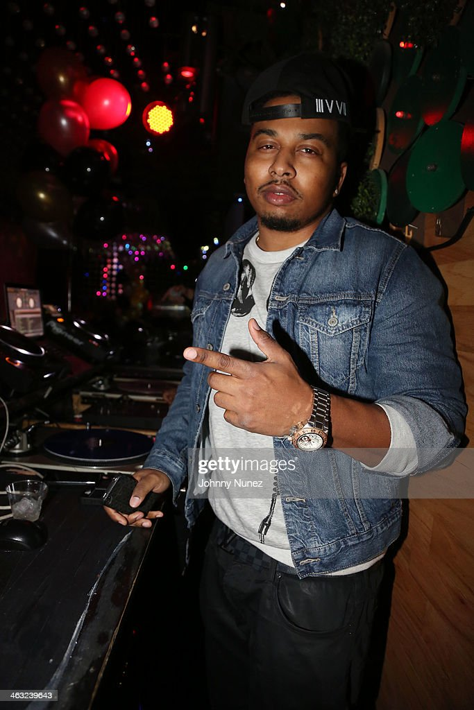 DJ Whutevva attends a birthday celebration for Barry Mullineaux and DJ Clue at Greenhouse on January 16, 2014, in New York City.