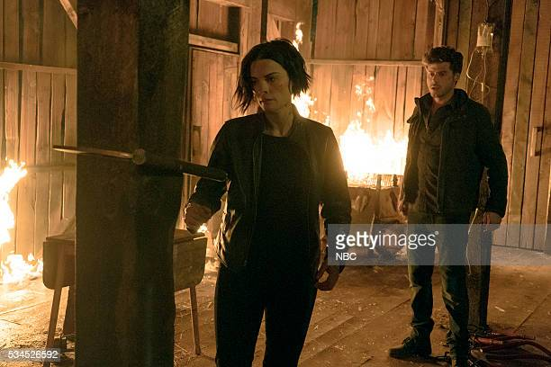 BLINDSPOT 'Why Await Life's End' Episode 123 Pictured Jaimie Alexander as Jane Doe Francois Arnaud as Oscar