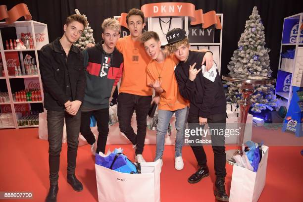 Why Don't We attend the DKNY gift lounge at Jingle Ball on December 8 2017 in New York City