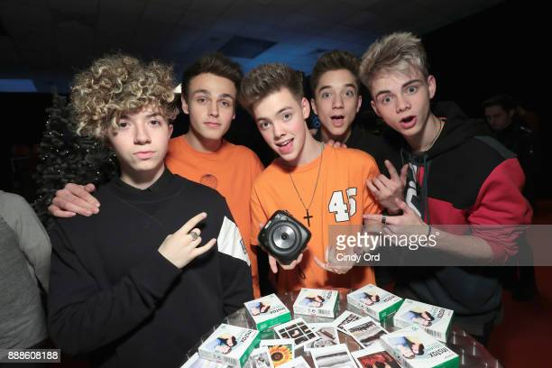 Why Don't We attend the Z100's Jingle Ball 2017 GIFTING LOUNGE on December 8 2017 in New York City