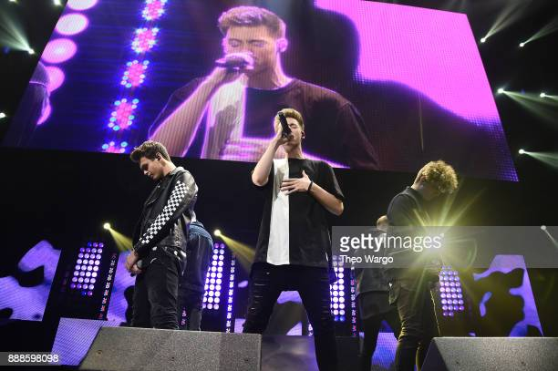 Why Don't We perform onstage at the Z100's Jingle Ball 2017 on December 8 2017 in New York City