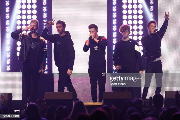Why Don't We performs onstage during KISS 108's Jingle Ball 2017 presented by Capital One at TD Garden on December 10 2017 in Boston Mass