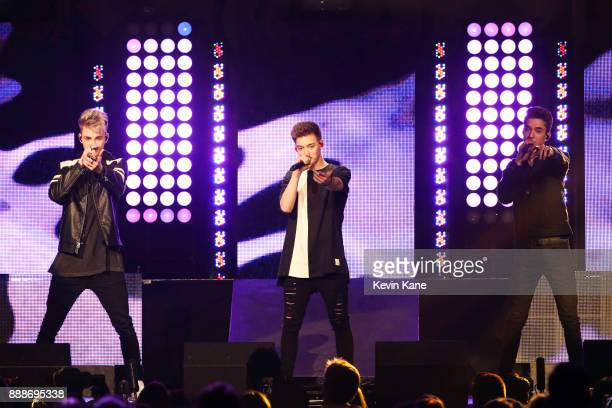 Why Don't We performs onstage during Z100's iHeartRadio Jingle Ball 2017 at Madison Square Garden on December 8 2017 in New York City