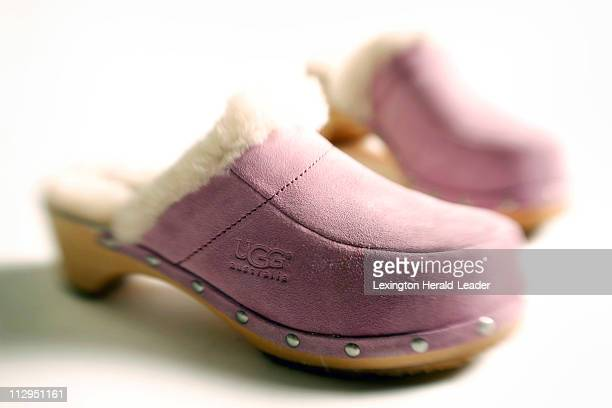 Why settle for beige when you can wear Ugg clogs in a fun light lavender Available at TJ Maxx