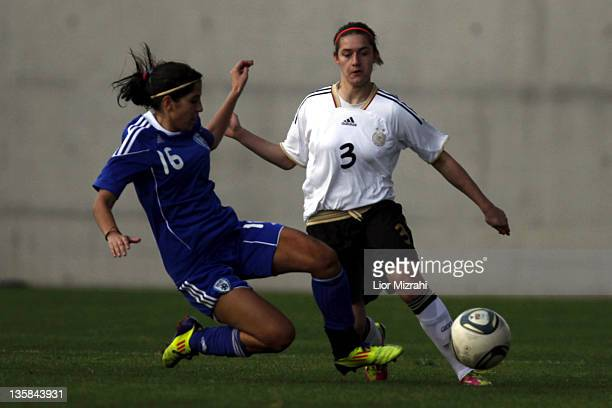 Wibke Meister of Germany challenges Roni Shimrich of Israel during the Under 19 International Friendly match between Israel and Germany on December...