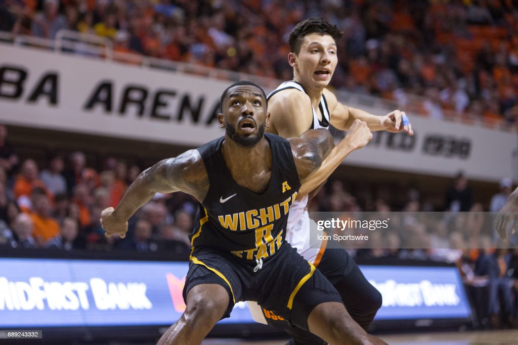 Wichita State Shockers forward Rashard Kelly (0) during the college mens basketball game between the Wichita State Shockers and the Oklahoma State Cowboys on December 9, 2017 at Gallagher-Iba Arena in Stillwater, Oklahoma.
