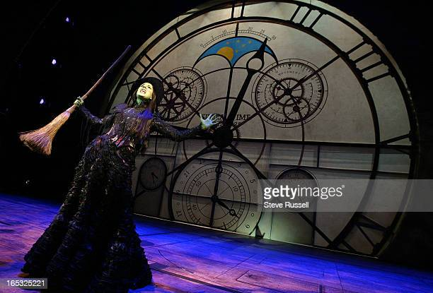 WICKED03/01/05The Touring production of Wicked rehearses Cast includes Stephanie J Block plays Elphaba the wicked witch The Play will run from March...
