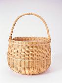 Wicker basket, studio shot