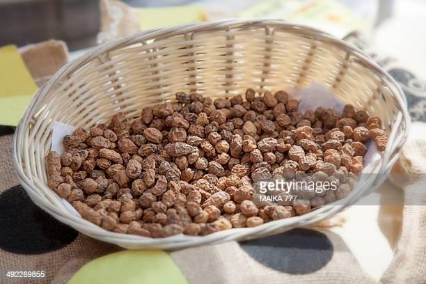Wicker basket with dry Tigernuts