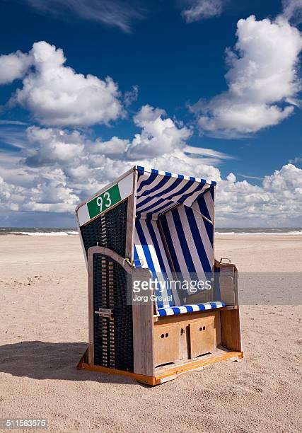 Wicker beach chair
