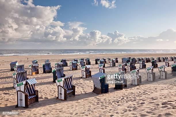 Wicker beach chairs