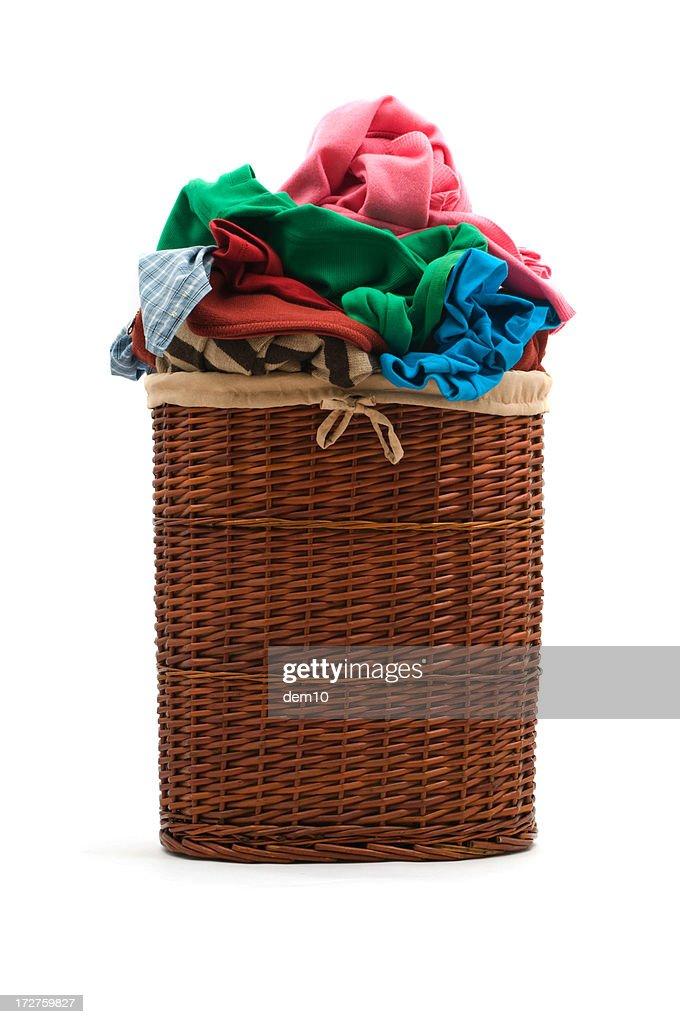 Mimbre cesta de la ropa sucia foto de stock getty images - Cesta ropa sucia ...