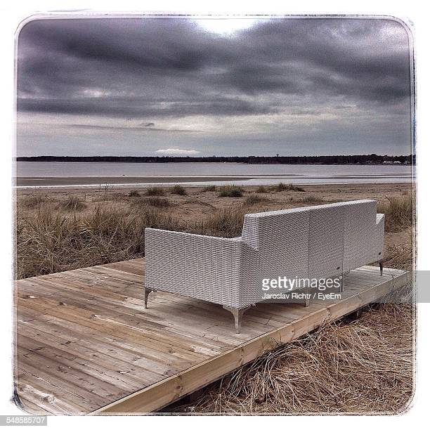 Wicker Sofa On Beach