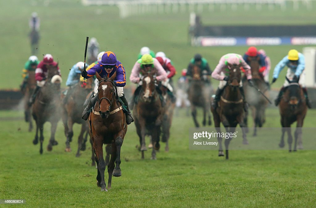 Wicklow Brave ridden by Paul Townend wins the Vincent O'Brien County Handicap Hurdle during the Cheltenham Gold Cup day at the Cheltenham Festival...