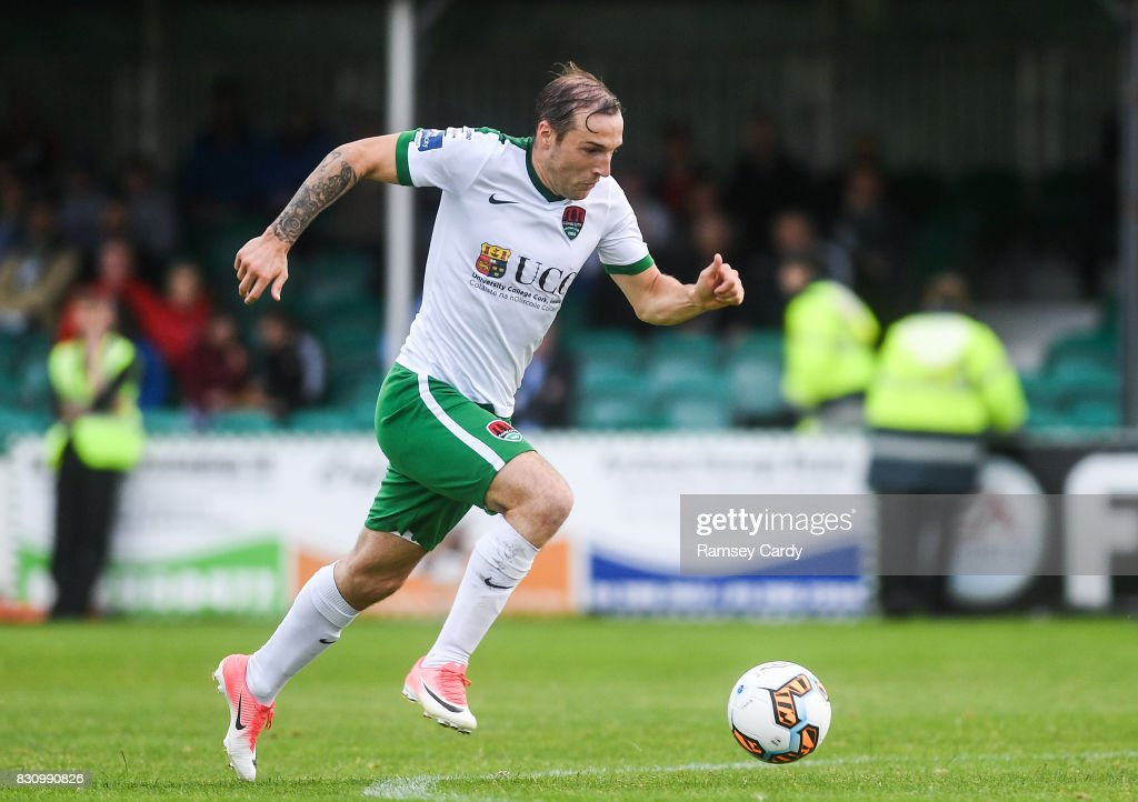 Wicklow , Ireland - 12 August 2017; Karl Sheppard of Cork City during the Irish Daily Mail FAI Cup first round match between Bray Wanderers and Cork City at the Carlisle Grounds in Bray, Co. Wicklow.