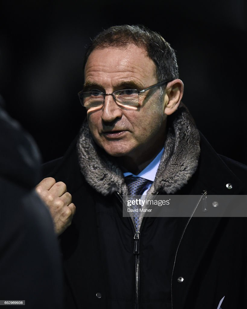 Wicklow , Ireland - 13 March 2017; Republic of Ireland manager Martin O'Neill in attendance at the SSE Airtricity League Premier Division match between Bray Wanderers and Drogheda United at the Carlisle Grounds in Bray, Co Wicklow.
