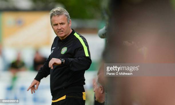 Wicklow Ireland 16 June 2017 Bray Wanderers manager Harry Kenny during the SSE Airtricity League Premier Division match between Bray Wanderers and...