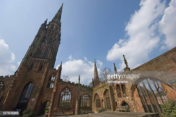 Wide angle Coventry cathedral