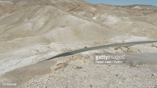 Wide Angle Of Desert Road