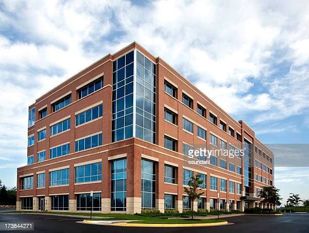 Wide angle office building exterior