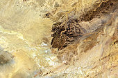 A Wide angle satellite shot of Tin Bider crater on March 27 2016 The carter was created by a meteorite impact located east of In Salah Algeria on the...