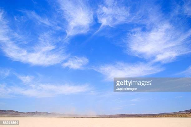 Wide angle shot of desert