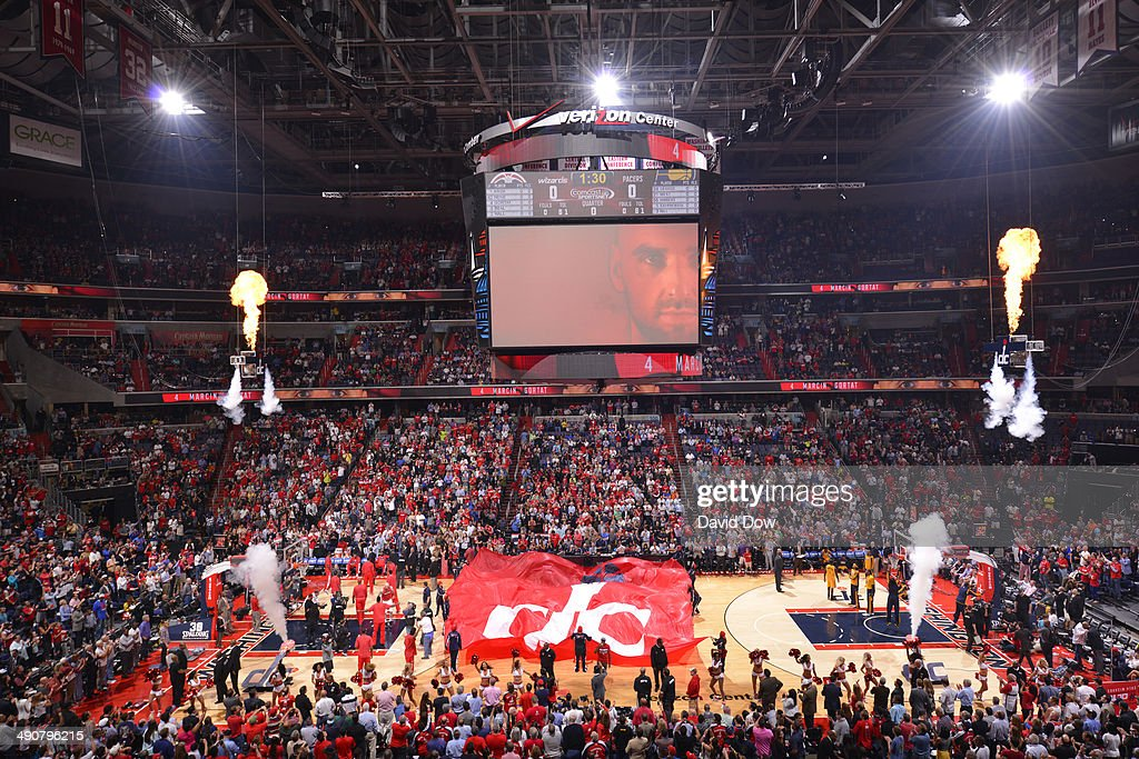 A wide angle shot of the Verizon Center during Game Three of the Eastern Conference Semifinals on May 9, 2014 in Washington, DC.