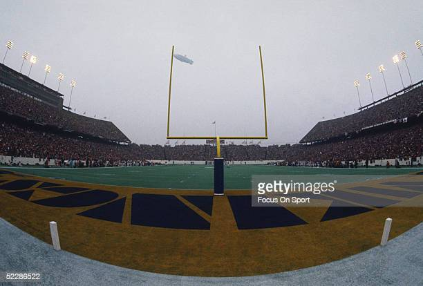 A wide angle shot shows Rice Stadium during Super Bowl VIII featuring the Miami Dolphins and the Minnesota Vikings on January 13 1974 in Houston...